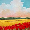 Mustard Field and Poppies