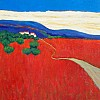 Red Fields, Tuscany