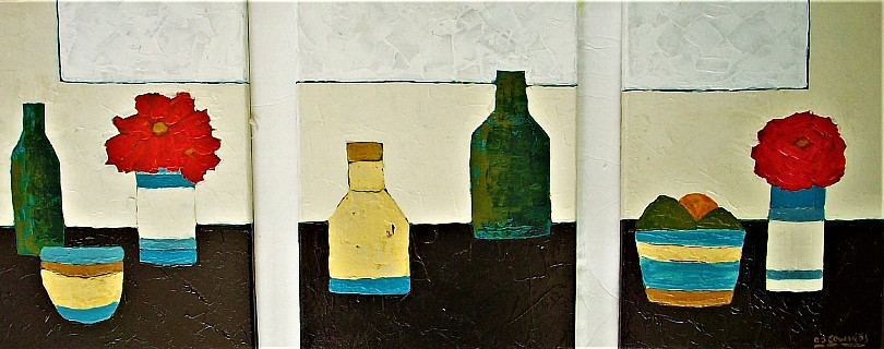 Morandi Revisited triptych